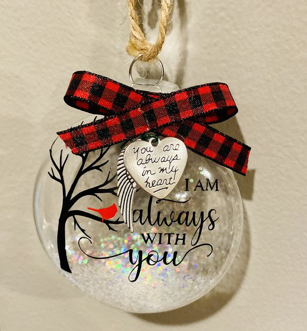I am always with you cardinal ornament includes charms