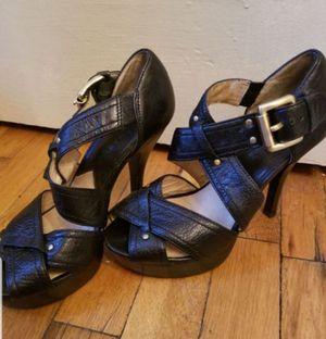 Michael Kors Black Leather Studded Heels (Size 6) for Sale in Denver, CO