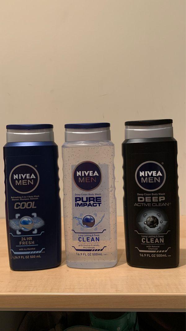 Nivea Men body wash 16.9 oz: Cool, Pure Impact or Deep Active Clean — NO LONGER AVAILABLE