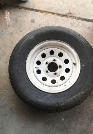 Trailer Tire 14 inch rim for Sale in Las Vegas, NV