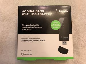 AC Dual-Band Wi-Fi USB Adapter for Sale in Springfield, VA