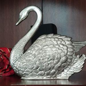 Vintage Silverplate 1988 Godinger Swan Napkin holder for Sale in Kent, WA