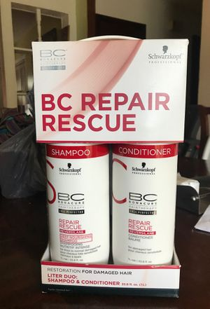 Bc Repair Rescue Shampoo & Conditioner Liter Duo for Sale in Cary, NC