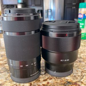 Sony Lenses 85mm 55-210mm for Sale in Miami Gardens, FL