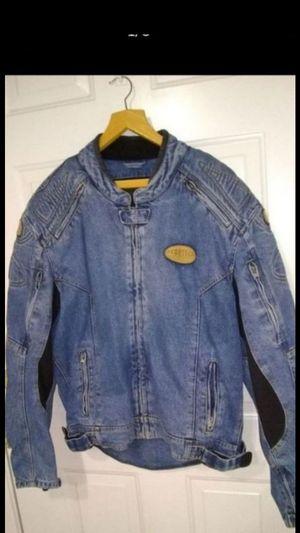 Motorcycle jean jacket size 46 for Sale in Glendale, AZ
