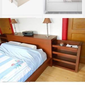 IKEA MALM bed frame (low) with rollout side tables for Sale in MERRIONETT PK, IL