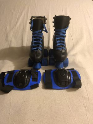Roller skates and knee pads for Sale in Montebello, CA