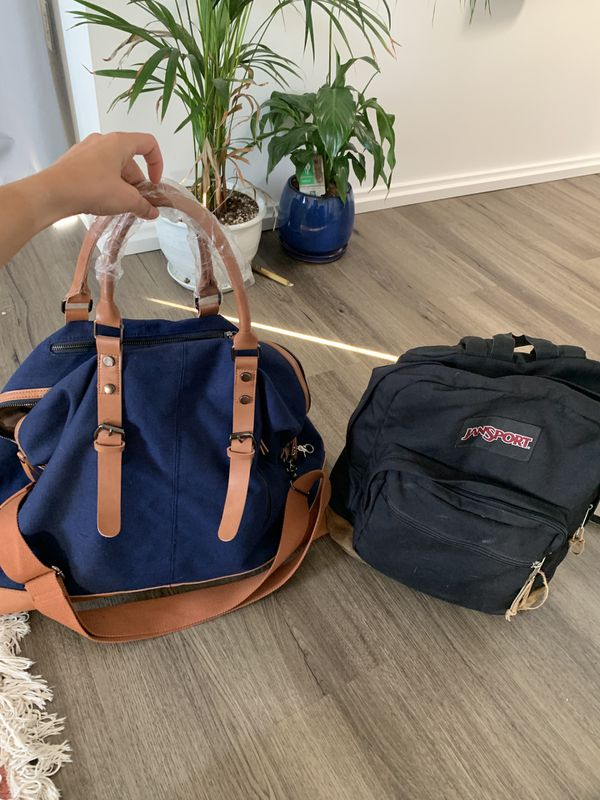 Large tote travel bag luggage with garment bag