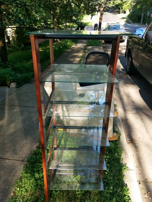 Glass wood shelf display plant stand 5'x2'x2' for Sale in Takoma Park, MD