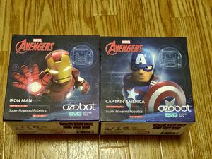 OZOBOT Marvel Avengers - Iron Man and Captain America - EVO Master Pack by OZOBOT. Opened and used for a day and kept inside the box. for Sale in Saint Paul, MN