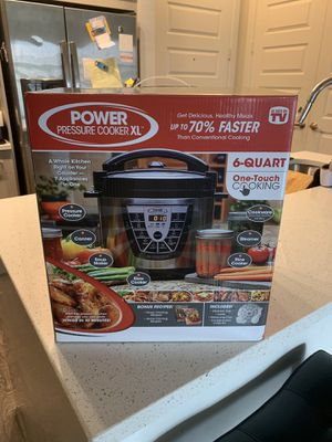 Power Pressure Cooker XL 6 Qt - New for Sale in Dallas, TX