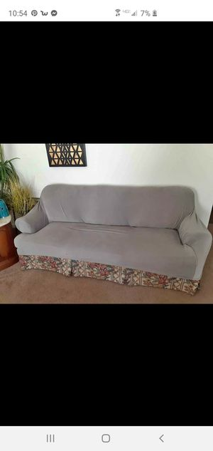 Free couch with slip over for Sale in Delton, MI