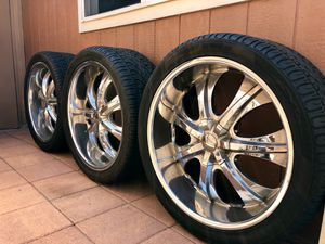 ONLY 3 wheels and tires. 24 x 10. for Sale in La Mirada, CA