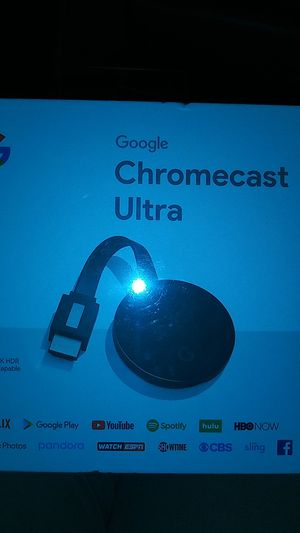 GOOGLE CHROMECAST ULTRA ..BRAND NEW..IN BOX..NEVER OPENED for Sale in Garfield Heights, OH