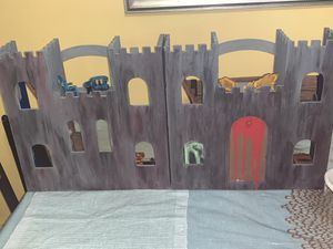 Haunted castle handmade hand painted whit all woods furniture $150 rare Halloween toy for Sale in Cumberland, RI