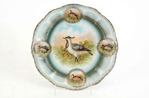 "ANTIQUE PM BAVARIA 9"" WOODLAND FOWL CABINET PLATE #117, CIRCA 1904-1937 for Sale in Lakewood, CO"