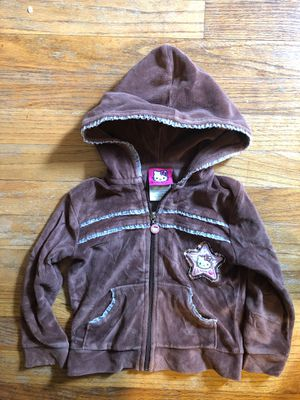Size 4 Hello Kitty Brown Jacket for Sale in St. Louis, MO