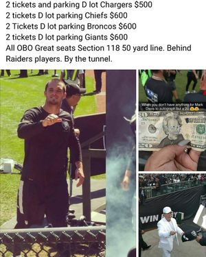Raiders vs Broncos for Sale in Sanger, CA