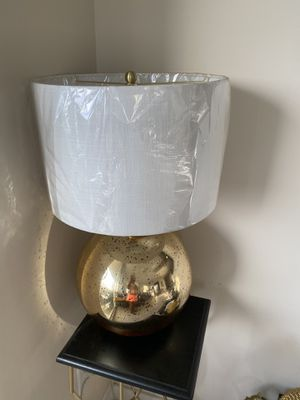 Gold base lamp with white shade for Sale in Fort Lauderdale, FL