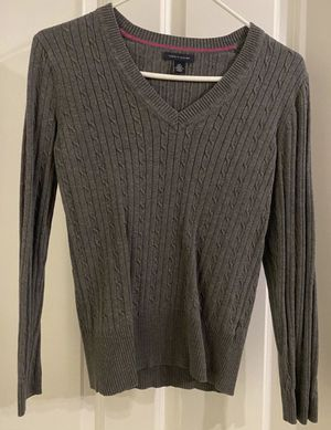 Women's Girls Kids Grey Casual Long Sleeve Sweater By Tommy Hilfiger Design for Sale in Chapel Hill, NC