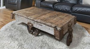 Antique Factory Cart Coffee Table for Sale in Irvine, CA