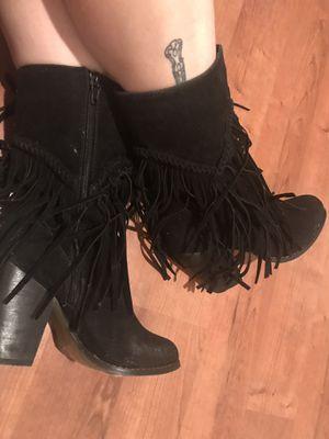 Yoki - Wyoming Black Fringe Boot Size 5.5 for Sale in Austin, TX