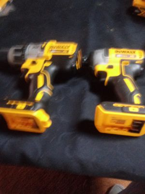 Dewalt 20 volt xr brushless hammer drill 3 speed and a brushless 3 speed inpack driver tools only for Sale in Cincinnati, OH