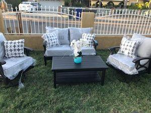New Sunbrella Patio Furniture Set swivel chairs for Sale in Riverside, CA