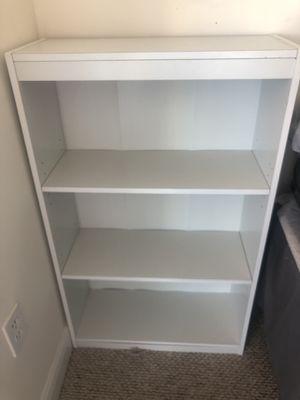 TWO WHITE MEDIUM SIZED BOOKSHELVES for Sale in SUNNY ISL BCH, FL