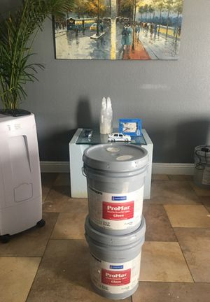 House paint off white exterior/interior gloss 2 buckets for only $120 firm for Sale in Las Vegas, NV