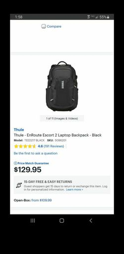 NEW THULE BACKPACK! for Sale in Riverside,  CA
