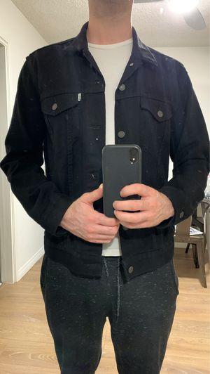 Levi's men's medium black denim jacket for Sale in Los Angeles, CA