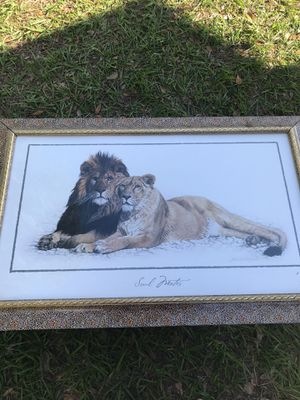 lion and giraffe paintings for Sale in Webster, FL