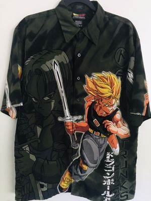 Vintage Rare Dragon Ball Z DBZ Button Up Hawaii Style Shirt for Sale in Lake Forest, CA