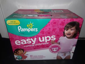 Pampers Easy Ups Girls 2t-3t (80 count) for Sale in Garland, TX