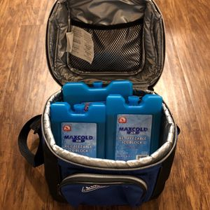 Coleman Cooler Bag With 3 Reusable Ice Blocks( Two Medium Size, One Big Size)— Rarely Used for Sale in Irvine, CA