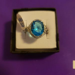 125811824 Sterling Silver Sea Blue Topaz for Sale in Haines City, FL