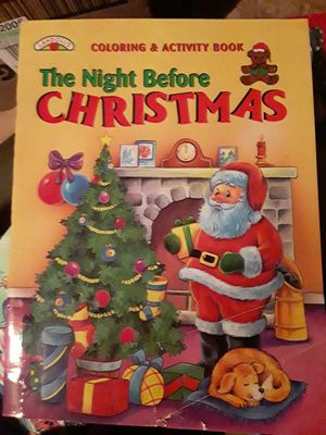 New The Night Before Chrismas coloring book 1996 for Sale in Cleveland, OH