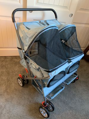 Blue Paws & Pals Double Dog Stroller for Sale in Agua Dulce, CA