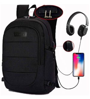 Laptop Backpack, Business Anti Theft Waterproof Travel Backpack with USB Charging Port & Headphone Interface for College Student for Women Men,Fits U for Sale in St. Louis, MO