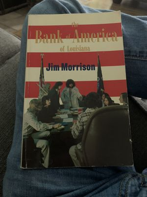 The Bank of America of Louisiana by Jim Morrison of The Doors (Rare book) for Sale in San Antonio, TX