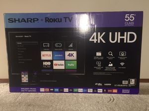 """Sharp - 55"""" Class - LED - 2160p - Smart - 4K UHD TV with HDR Roku TV for Sale in CT, US"""