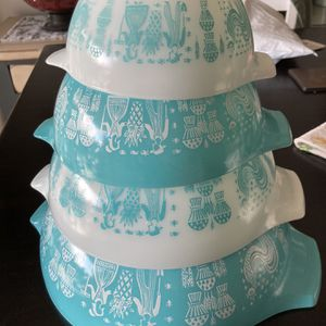 Vintage Pyrex Butter print Amish Cinderella Mixing Bowls for Sale in Vancouver, WA