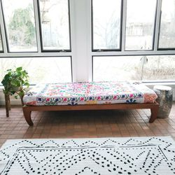 Urban Outfitters Solid Wood Platform Twin Bed and quilt for Sale in Gaithersburg,  MD