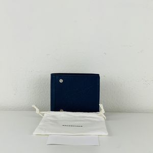 NWT Balenciaga Bifold Wallet Blue Leather Screws Studs Rectangle $590 for Sale in Los Angeles, CA