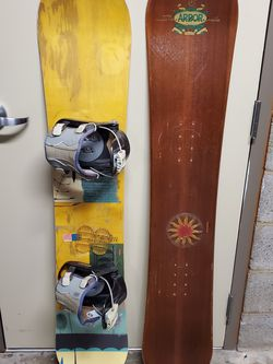 "WOOD SNOWBOARDS (both approx 57.5"" L x 11"" W) - price for both bought together; can also buy individually (see details) - firm prices for Sale in Arlington,  VA"