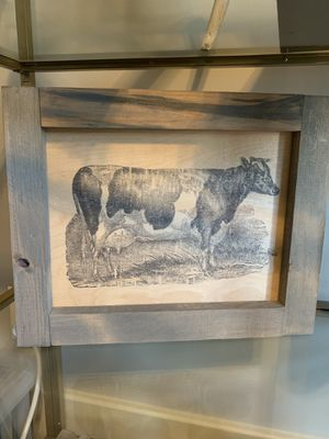 Wooden Cow Art Print for Sale in Nashville, TN
