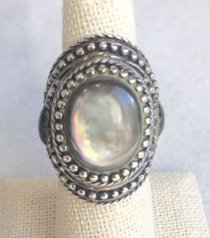 Beautiful Moonstone Sterling Silver ring set in Sterling Silver Size 7 for Sale in Villanova, PA