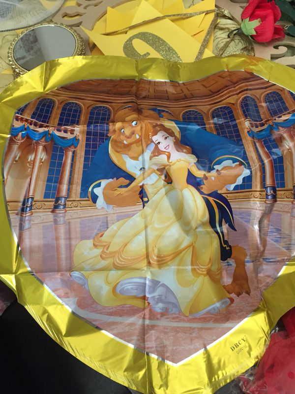 Beauty and beast balloons