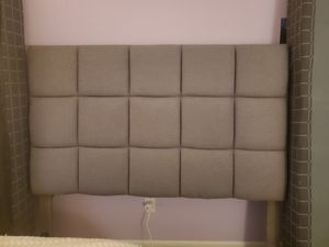 Free queen headboard and boxspring for Sale in Portsmouth, RI